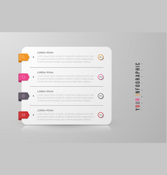 Infographic concept design with 4 options vector