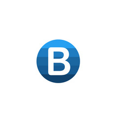 inityal lettre b business brand logo creative vector image