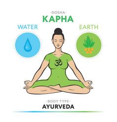 kapha dosha - ayurvedic physical constitution vector image