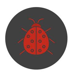 Ladybug glyph color icon vector