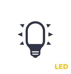Led bulb icon vector