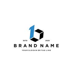 Letter b1 logo icon design vector