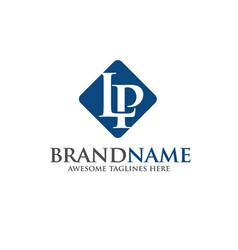 Letter lp logo vector