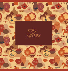 logo a pottery workshop or shop with a vector image