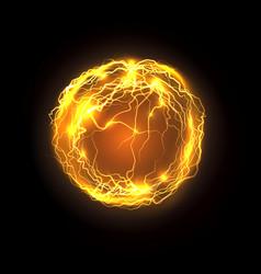 Magic power bolt and lightning energy ball vector