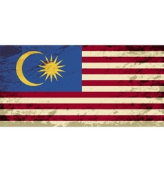 Malaysian flag Grunge background vector