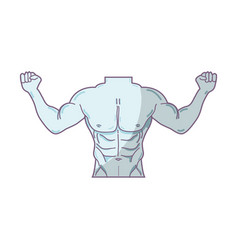 Man toned body fitness vector