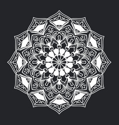 mandala pattern black and white ornament vector image