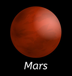mars planet icon realistic style vector image