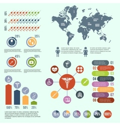 Medical healthcare infographic vector image