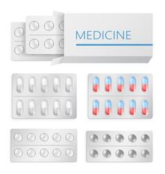 medicine pills blister package vector image