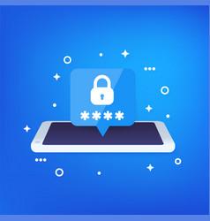 Mobile security password access vector
