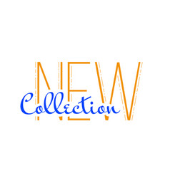 new collection word type vector image