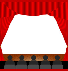 people in the theater vector image