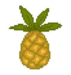 Pixel pineapple vector