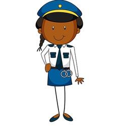 Policewoman vector