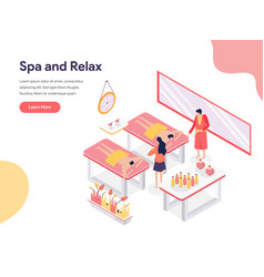 relax and spa room concept isometric design vector image