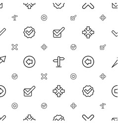 Right icons pattern seamless white background vector