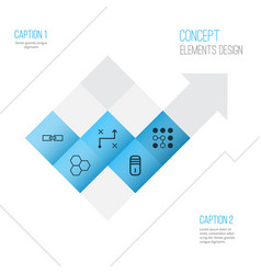 Robotics icons set collection of solution vector