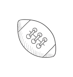 Rugby football ball sketch icon vector