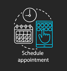 Schedule appointment chalk icon vector