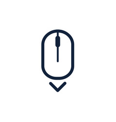 Scroll down up computer mouse icon symbol flat vector