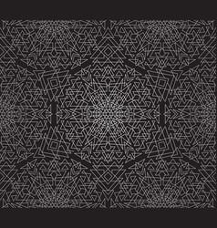 Seamless geometric ornamental pattern vector