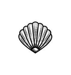 shell oyster scallop logo design designs vector image