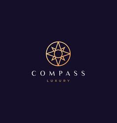 Simple compass logo concept in a modern vector