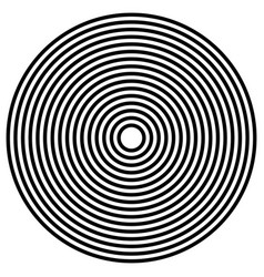 Simple concentric radiating circle graphics vector