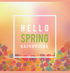 spring floral background with blurry watercolor vector image