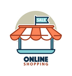 stand of online store logo vector image