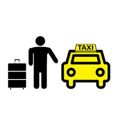 sticker logo or icon taxi service vector image