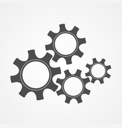 teamwork concept black silhouette gear and cog vector image