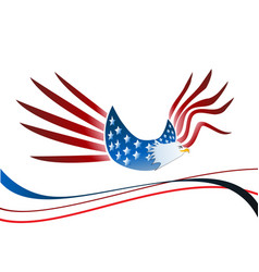 Usa eagle independence icon vector