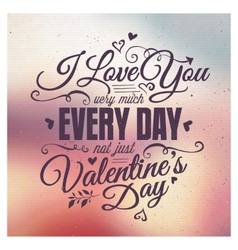 Valentines Day Lettering vector image