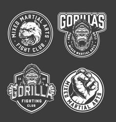 Vintage fight club emblems vector
