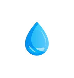 Water drop on light background vector