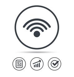 Wifi icon wireless internet sign vector