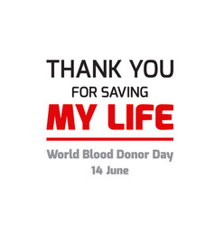 world blood donor day design vector image