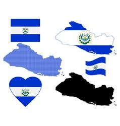 map Salvador vector image