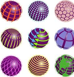nine symbols vector image vector image