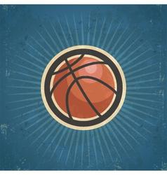 Retro Basketball vector image vector image