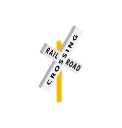 Train crossing road isometric icon vector image vector image