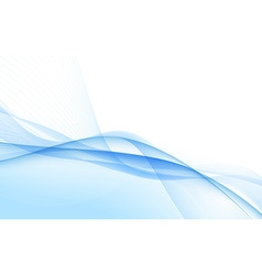 Abstract blue waves - data stream concept vector image vector image