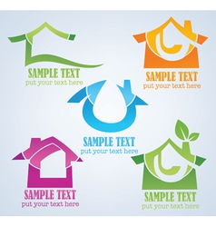 buy your own home property symbols vector image vector image