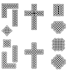 celtic style endless knot symbols vector image