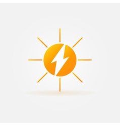 Rechargeable energy from sun icon vector image vector image