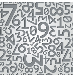 Abstract dark grey random numbers on white vector image