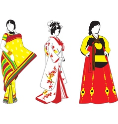 Asian girls vector image